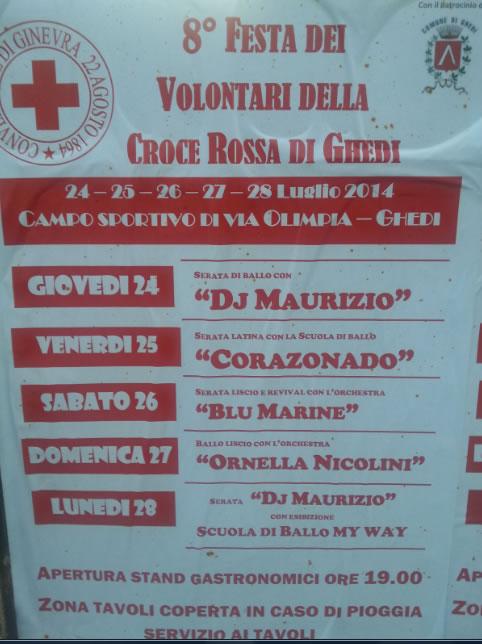 Festa dei Volontari Croce Rossa a Ghedi