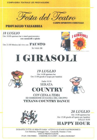 Festa del Teatro a Provaglio Valsabbia