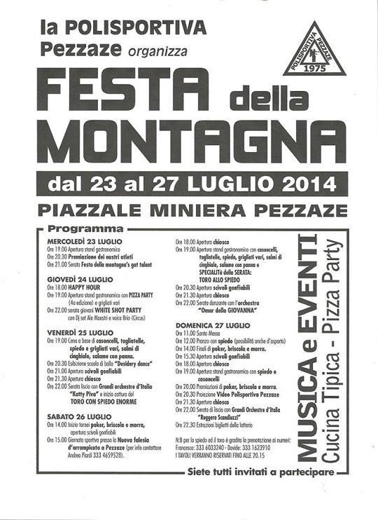 Festa della Montagna 2014 Pezzaze