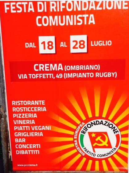 Festa di Rifondazione Comunista a Ombriano di Crema
