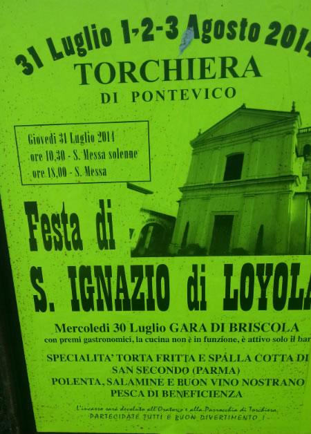 Festa di S.Ignazio di Loyola a Pontevico