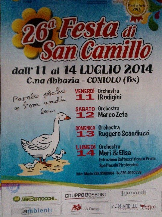 Festa di San Camillo 2014 Coniolo di Orzinuovi