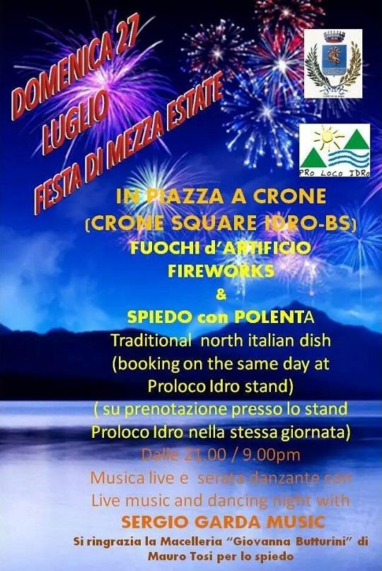 Festa di mezza Estate 2014 Crone di IDRO