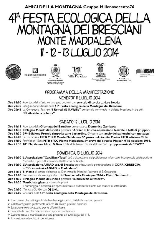 Festa ecologica della Montagna 2014 Brescia