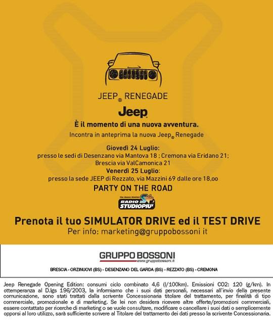 Presentazione Jeep  da Bossoni Rezzato