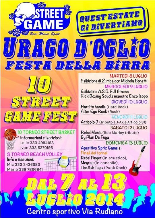 StreetGame Fest 2014 Urago D'Oglio