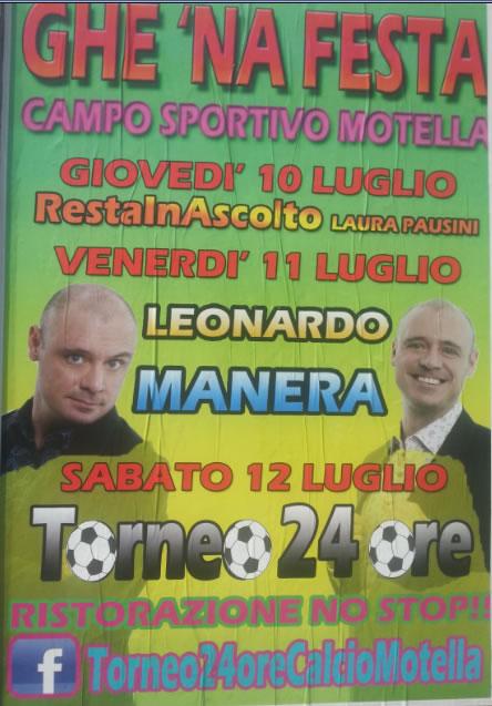 Torneo 24 ore alla Motella di Borgo San Giacomo