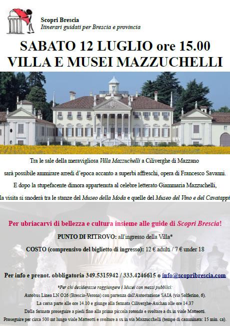 Villa e Musei Mazzuchelli con ScopriBrescia