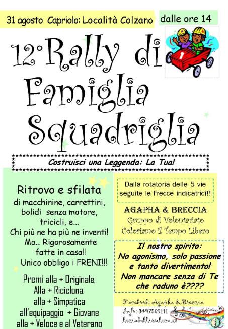 12° Rally di Famiglia a Capriolo