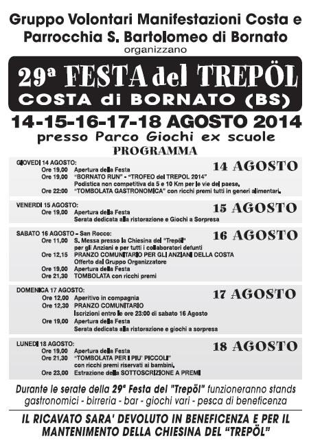 29° Festa del Trepol a Costa di Bornato