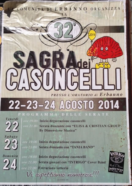 32° Sagra dei Casoncelli a Erbanno