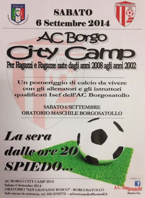AC Borgo City Camp a Borgosatollo
