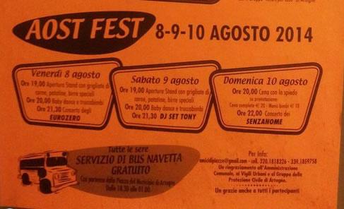 Aost Fest a Piazze di Artogne