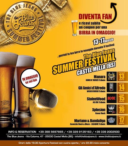 BlueJeans Summer Festival 2014 CastelMella
