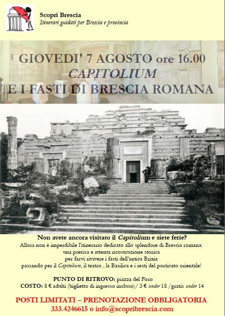Capitolium e i Fasti di Brescia Romana con ScopriBrescia