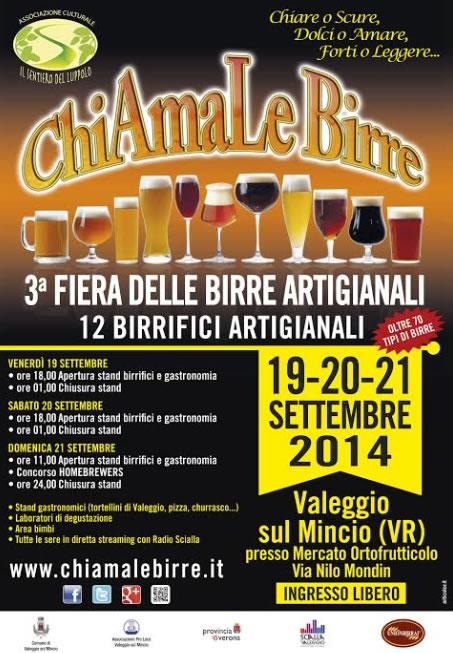 ChiAmaLe Birre - 3^ Fiera delle Birre Artigianali a Valeggio s\M (VR)