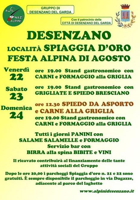 Festa Alpina di Agosto a Desenzano