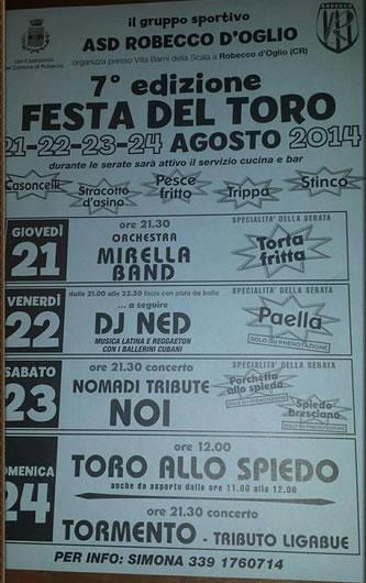 Festa del Toro a Robecco d'Oglio (CR)
