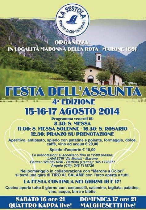 Festa dell'Assunta a Marone