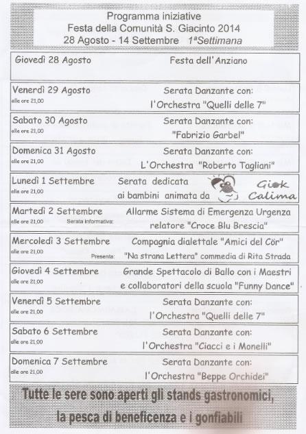 Festa della Comunità S. Giacinto a Brescia