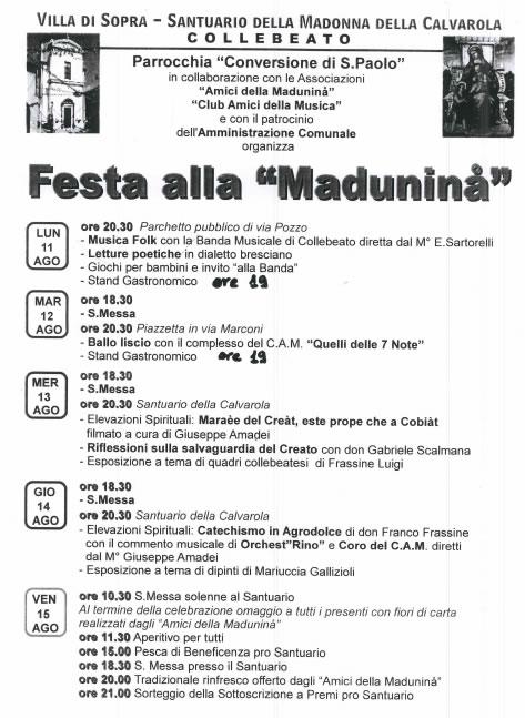 Festa della Madunina a Collebeato