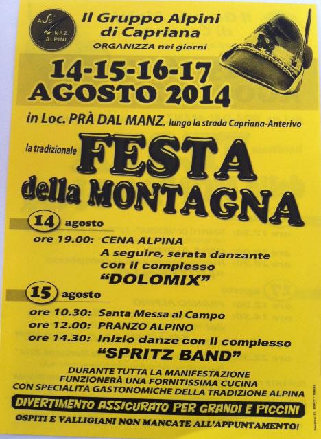 Festa della Montagna a Capriana (TN)