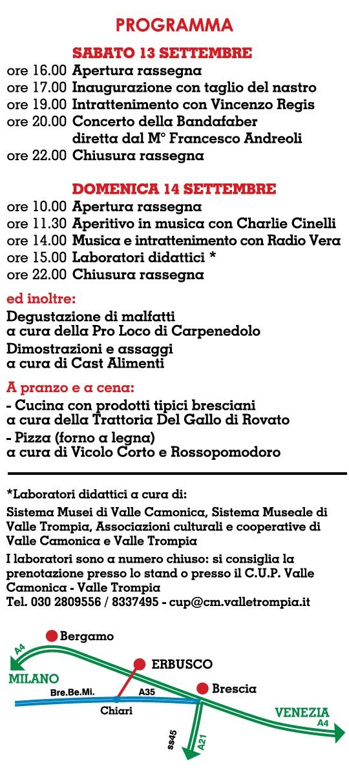 Made in Provincia di Brescia - Erbusco 2014 solo programma completo