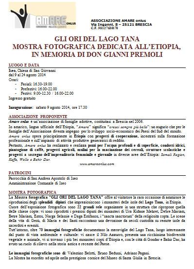 Mostra Fotografica dedicata all'Etiopia a Iseo