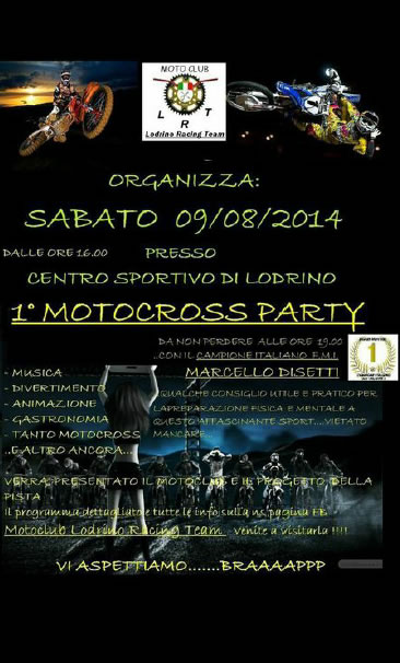 Motocross Party a Lodrino
