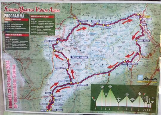 Scalata Quattro Valichi Alpini  Edolo