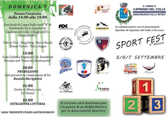 Sport Fest a Capriano del Colle