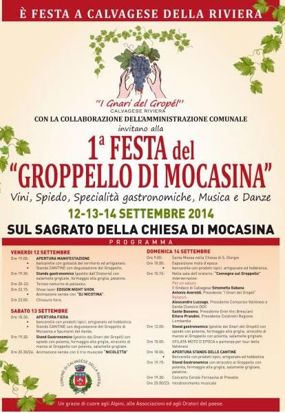 1° Festa del Groppello di Mocasina a Calvagese dR
