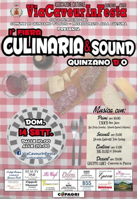 1° Fiera Culinaria e Sound a Quinzano DO