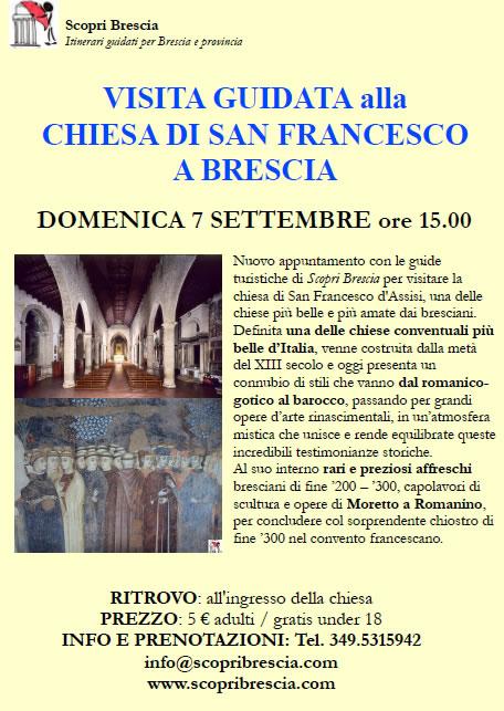 Chiesa di San Francesco con ScopriBrescia