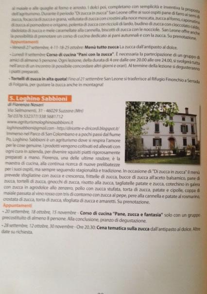 Di Zucca in Zucca Agriturismi di Mantova