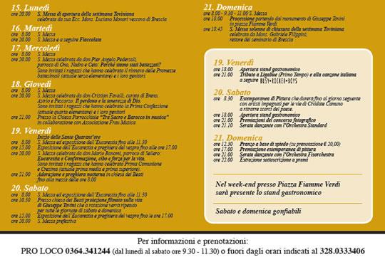Festa Beati Tovini a Cividate Camuno