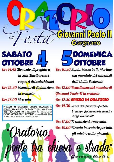 Festa in Oratorio a Gargnano