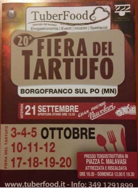 Fiera del Tartufo a Borgofranco sul Po (MN)