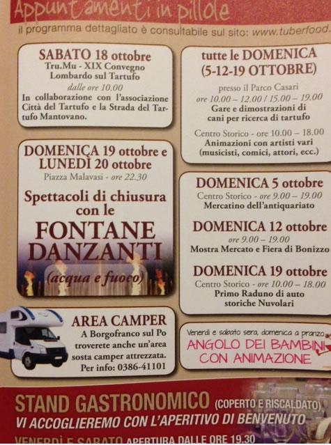 Fiera del Tartufo a Borgofranco sul Po (MN