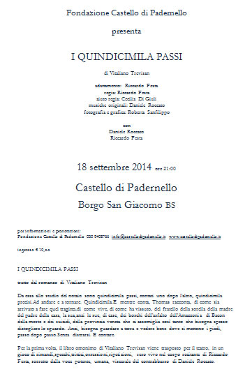 I Quindicimila Passi al Castello di Padernelllo