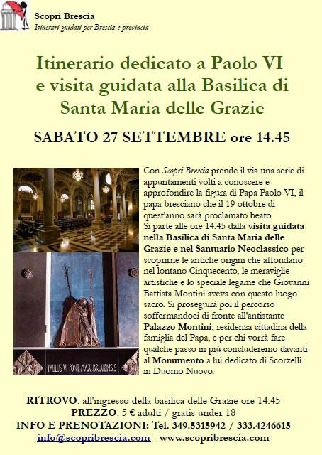 Itinerario Dedicato a Paolo VI con Scopri Brescia