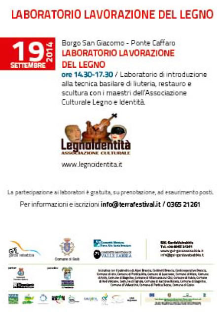 Laboratorio Lavorazione del Legno a Borgo San Giacomo