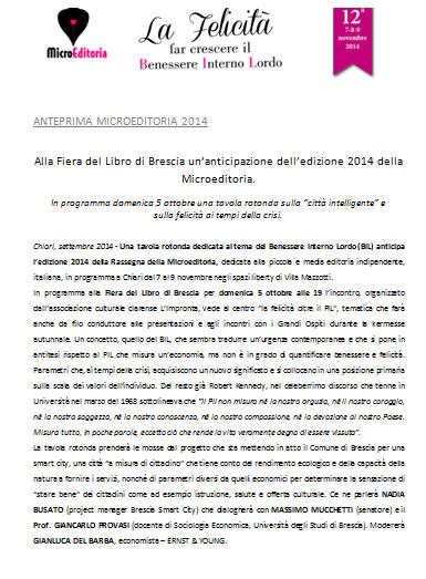 Microeditoria 2014 a Chiari
