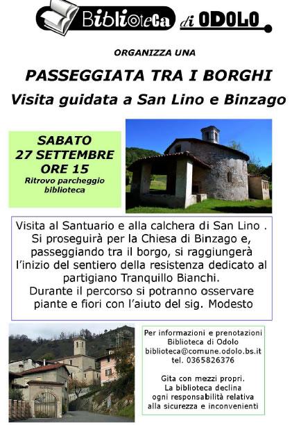 Passeggiata tra i Borghi di San Lino e Binzago