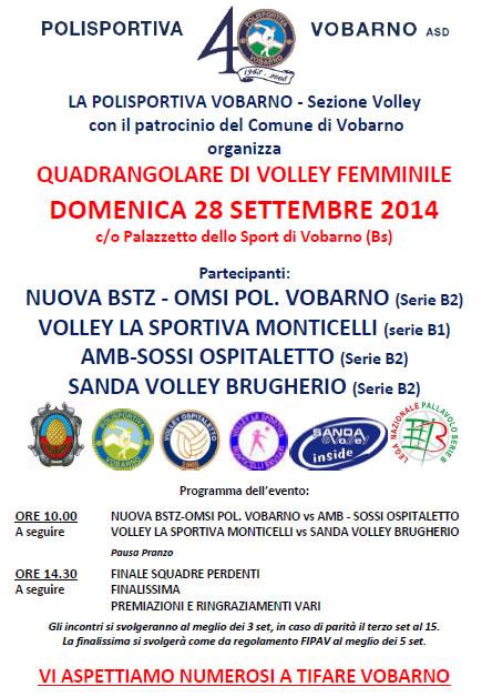 Quadrangolare Volley Femminile a Vobarno