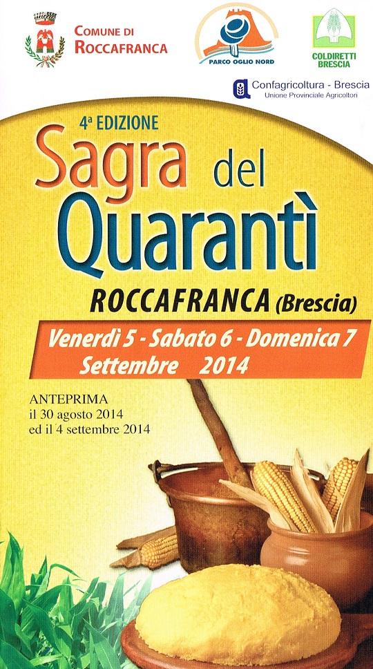 Sagra del Quarantì a Roccafranca 2014 Locandina
