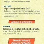 Sagra del Quarantì a Roccafranca 2014 programma 1