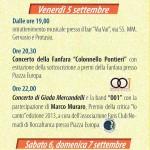 Sagra del Quarantì a Roccafranca 2014 programma 2