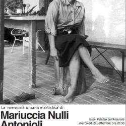 Serata dedicata a Mariuccia Nulli Antonioli a Iseo