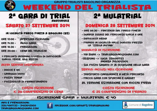 Weekend del Trialista a Bagolino